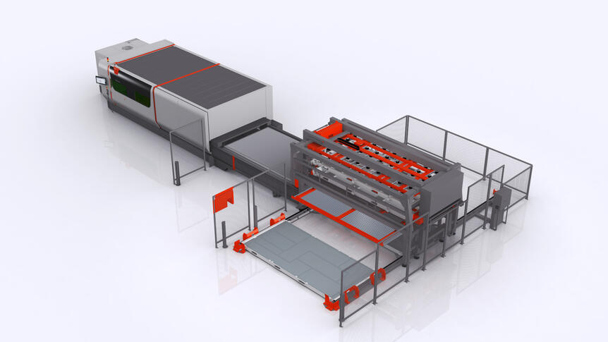 "Enhanced automation potential: The ""Cassette Changer"" extends the range of functions for the removal of finished cut parts and residual sheets."