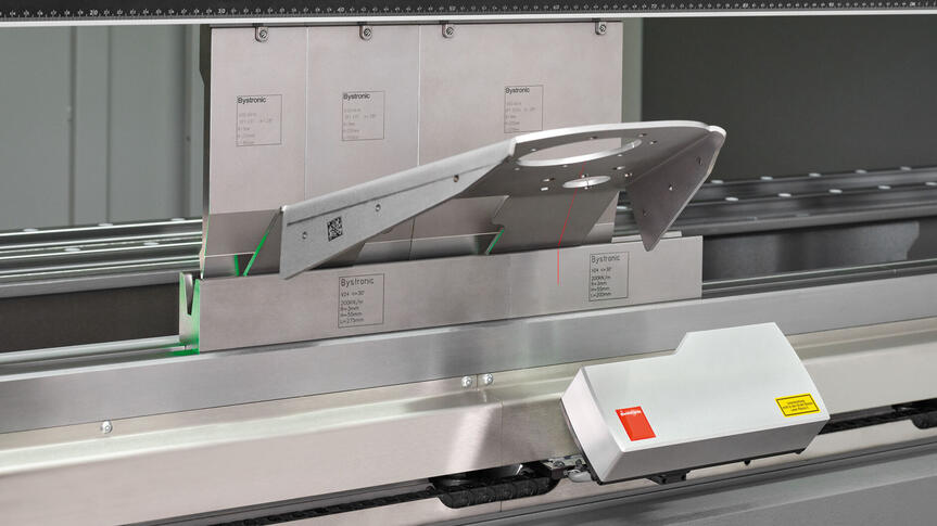 The next-generation Laser Angle Measuring System (LAMS) ensures perfect results from the very first bend.